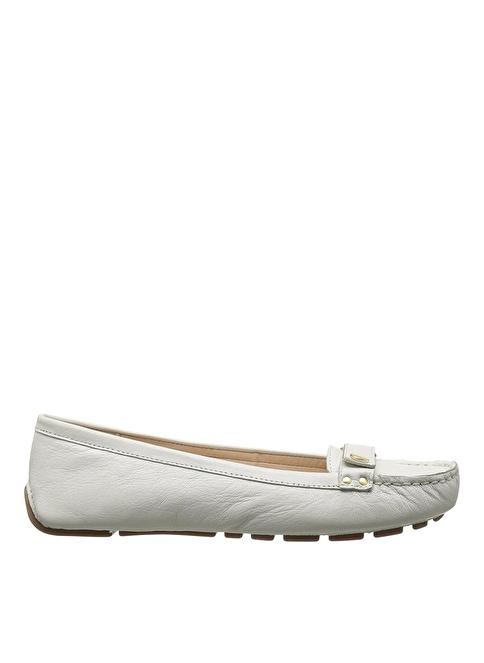 Nine West Deri Loafer Ayakkabı Beyaz